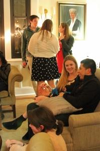 Students enjoying date night