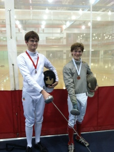 Fencers at the tournament