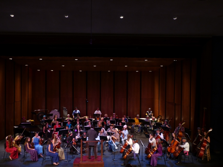 The orchestra during the Halloween concert