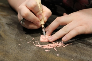 CarolAnne Poyman carves her stamp